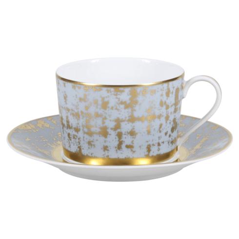 Royal Limoges  Recamier - TWEED GREY&GOLD Tea cup $95.00