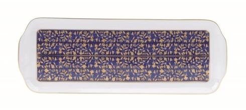 Blue rectangular platter