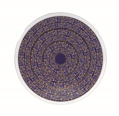 Blue round cake platter
