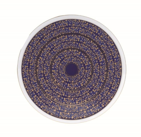 Blue round cake platter image