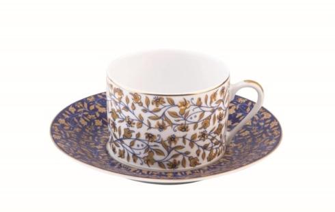 Blue tea saucer
