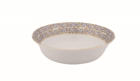 White deep soup/cereal plate