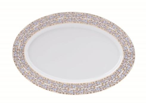 White oval platter