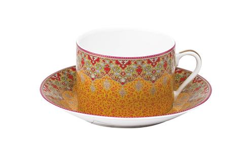 Deshoulieres  Dhara red Breakfast Saucer