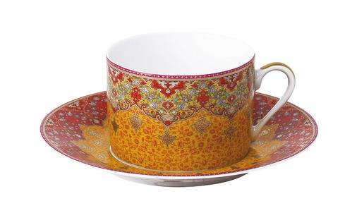 Deshoulieres  Dhara red Tea Saucer $65.00