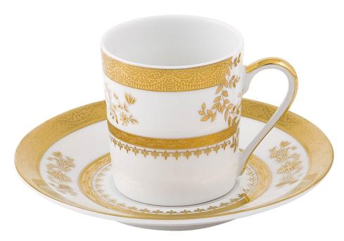 Deshoulieres  Orsay white Coffee Saucer $55.00