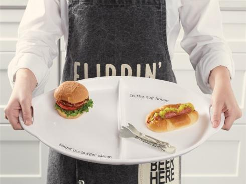 Burger Hotdog Platter Set collection with 1 products