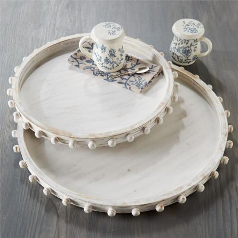 Beaded Wood Tray Set collection with 1 products