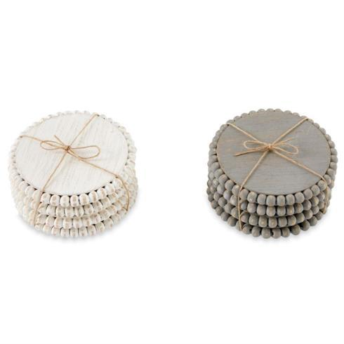 White Beaded Coaster Set collection with 1 products