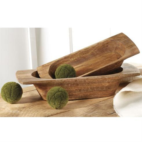 Hand carved Dough Bowl Set collection with 1 products