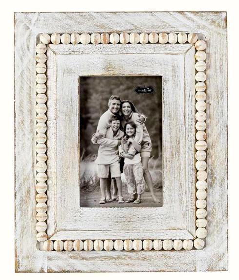 $45.00 White Beaded Frame