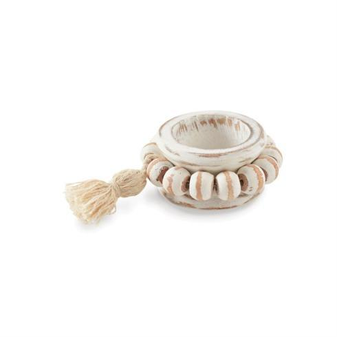Beaded Wood Napkin Rings collection with 1 products