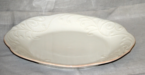 French Perle White Dinner plate