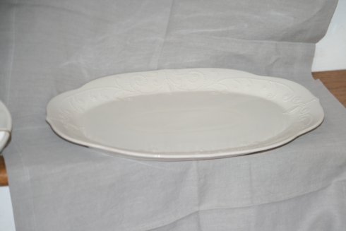 French Perle White Large Serving Platter collection with 1 products