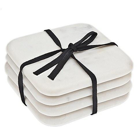 Godinger   White Marble Coasters $19.00