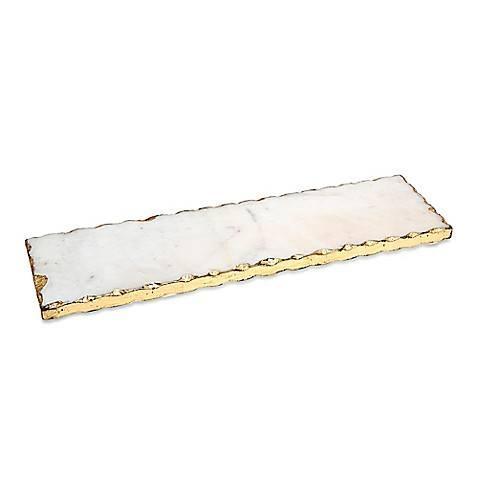 Godinger   Stone Rect Tray Gold Edge $43.00