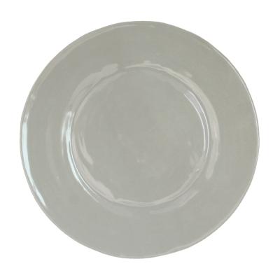 $13.00 Le Cadeaux rustique taupe salad plate