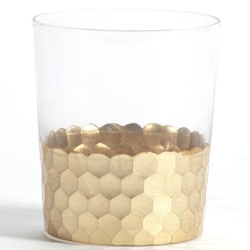 Zodax   Zodax Glass Tumbler Gold Leaf Bar312 $17.00