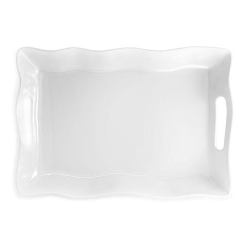 Q Squared   Q Square White Rectangle Tray  $48.00