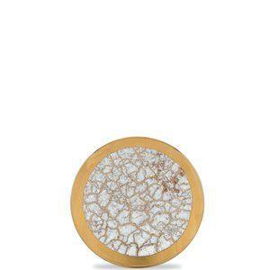 $75.00 mw tempio luna gold bread plate