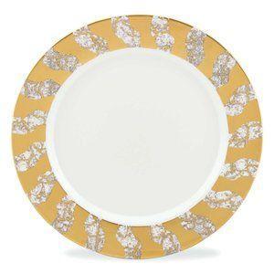 $95.00 MW Tempio Luna Gold Dinner Plate