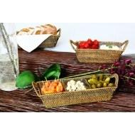 $109.00 Calaisio rectangle tray w/ 3 square glass dish