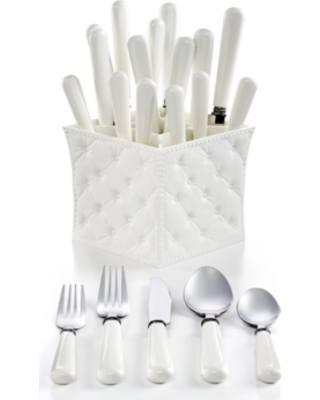 $55.00 Q Squared 20pc White Set with Caddy