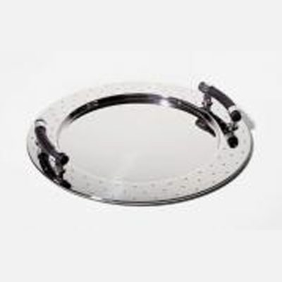 "$250.00 Graves Round Handled Tray 18.9"" D"