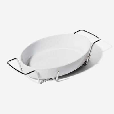 $145.00 Sottsass Oven to Table Dish with Holder