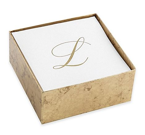 L Gold Linen Cocktail Napkins, Set/30  collection with 1 products