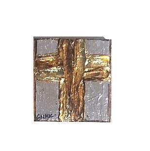 Medium Square Luster Cross in Mink collection with 1 products