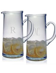 Susquehanna Glass  Glassware Tankard Pitcher with Monogram $55.00