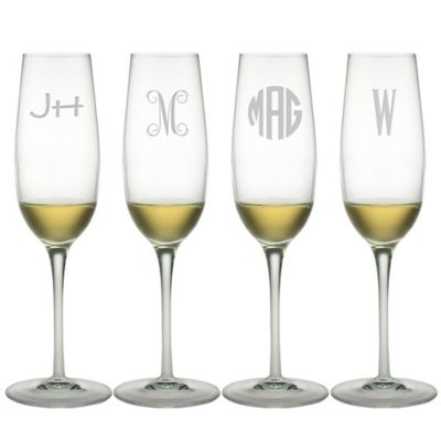 Susquehanna Glass  Glassware Champagne Flutes - Set of 4 $55.00