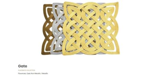 $64.00 SILVER METALIC GATE PLACEMATS