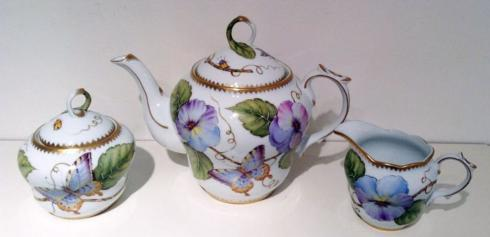 Bailey's Exclusives  Bailey's Fine Jewelry 3pc TEA SET PANSY $375.00
