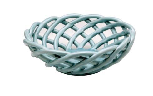 LT BLUE MED ROUND BASKET collection with 1 products