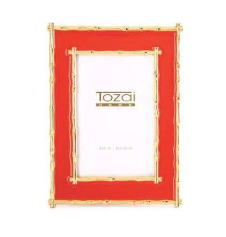 $68.00 4X6 Coral/Gold Bamboo Frame