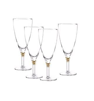 SET OF 4 ICED BEV GOLD HELIX collection with 1 products