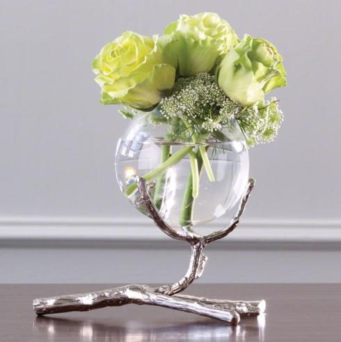$130.00 VASE WITH SILVER TWIG HOLDER