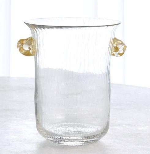 $250.00 Champagne Ice Bucket w/Gold Handles