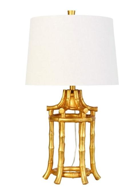 $495.00 Bamboo Gold Table Lamp