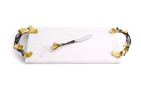 $250.00 Set of 2 Large Cheeseboard and Knife Golden Ginkgo
