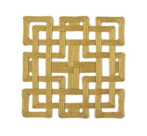 Bailey's Exclusives  Bailey's Fine Jewelry GOLD METALIC FRETWORK PLACEMAT $72.00