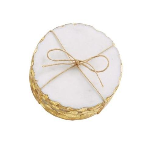 $20.00 S/4 GOLD MARBLE COASTERS