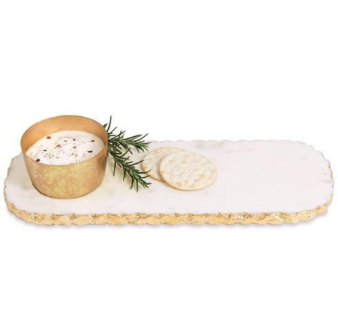 S/2 Gold Marble Dip & Tray collection with 1 products