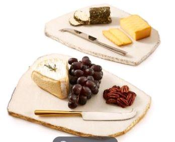 $95.00 Set of 2 Cheese Tray w/Knife