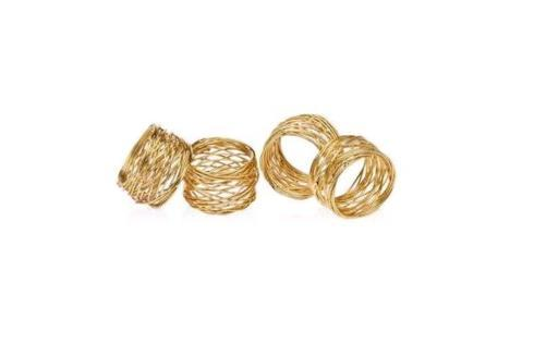 Bailey's Exclusives  Bailey's Fine Jewelry S/4 GOLD TWIST NAPKIN RINGS $16.00