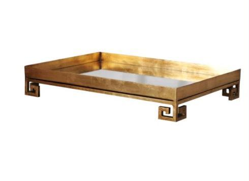 GOLD GREEK KEY W/MIRROR TRAY collection with 1 products