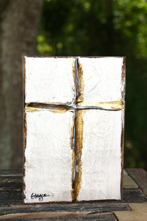 $52.00 Large Heritage Cross - Linen