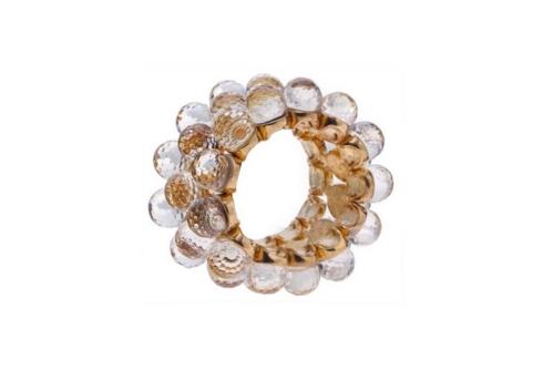 Beige Crystal Bead Napkin Ring